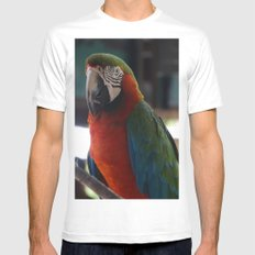 Parrot Talk Mens Fitted Tee White SMALL