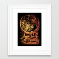 philosophy Framed Art Prints featuring Philosophy by Cycoblast Artwork