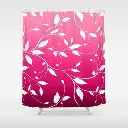 FLOWERY VINES | fuchsia white Shower Curtain