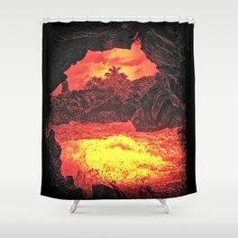 villainous island  Shower Curtain