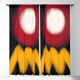 Abstract Expressionism Life Blackout Curtain