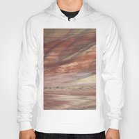 minerals Hoodies featuring Hills Painted by Earth Minerals by Leland D Howard