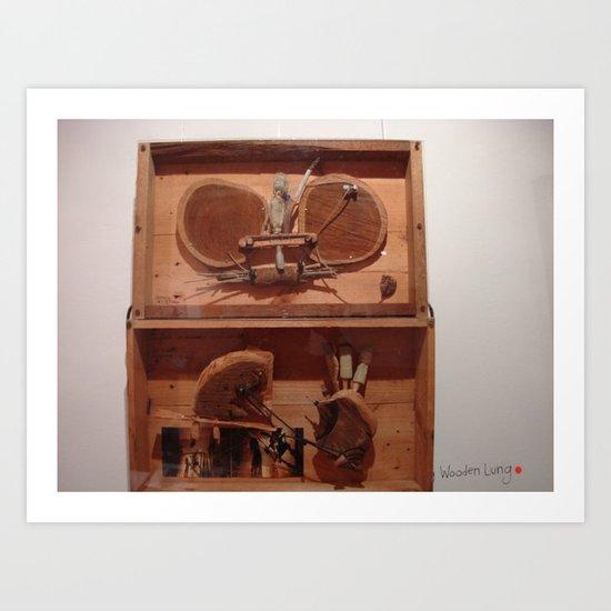 my wooden lung Art Print