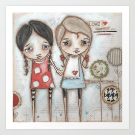 Never Far Away - Sister, Friend, Girlfriend art Art Print