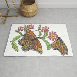 Monarch Butterflies Rug