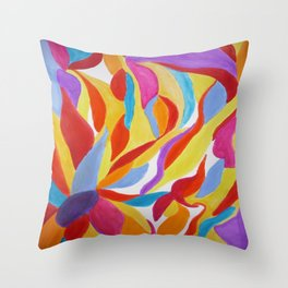 Divine Flowers Throw Pillow
