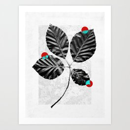 Abstract Flowers 4 Art Print