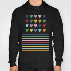 Heart Stripes Black Hoody