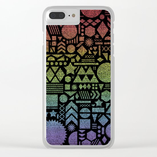 Modern Elements with Spectrum. Clear iPhone Case