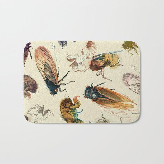summer cicadas Bath Mat