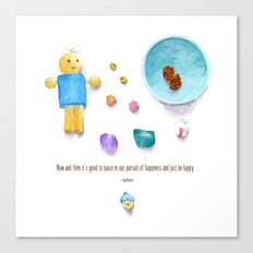 Bluebird of Happiness Canvas Print