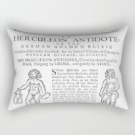 Advertisement for Herculeon Antidote for scurvy (17th century) Rectangular Pillow