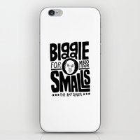 biggie smalls iPhone & iPod Skins featuring Biggie Smalls for Mayor by Chris Piascik