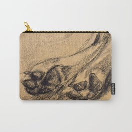 Dog Paws in Charcoal Carry-All Pouch