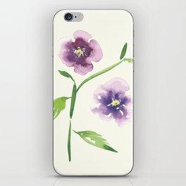 Purple Pansies iPhone Skin