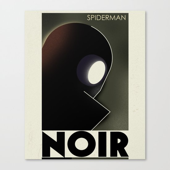 CASSANDRE SPIRIT - Spidey Noir Canvas Print