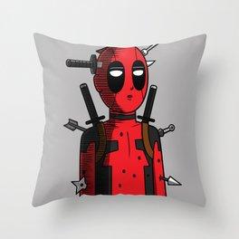 One Dead Merc Throw Pillow