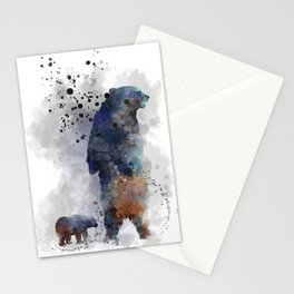 Bear and cub Stationery Cards