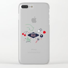 Vegas Nevada Day Clear iPhone Case