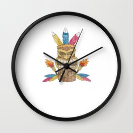 Funny Show Me Your Tikis Tshirt Design Wall Clock