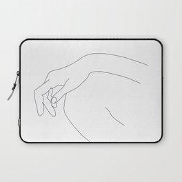 Hand on knee black and white illustration - Ana Laptop Sleeve