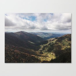 great smoky mountains in autumn Canvas Print