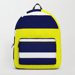 Summer Patio Perfect, Yellow, White & Navy Backpack