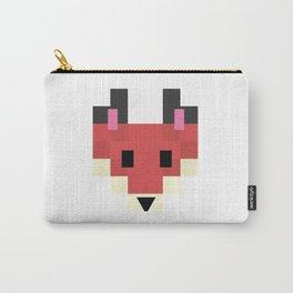 Cute 8 bit forest fox vector illustration. Woodland canine head shot pixel art. Carry-All Pouch