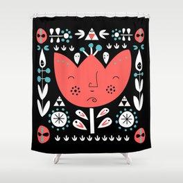 Folksy - Night Shower Curtain