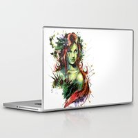 poison ivy Laptop & iPad Skins featuring Poison Ivy by Vincent Vernacatola
