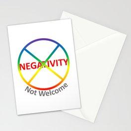 Negativity Not Welcome Stationery Cards