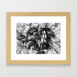 Rope knot with smoke effect Framed Art Print