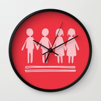 equality Wall Clocks featuring Equality Love by MaJoBV