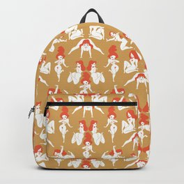 Pattern Pin-Up (gold) Backpack