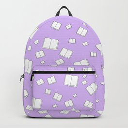 Lilac Flying Books Pattern Backpack