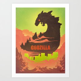 Gojira Art Print