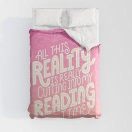 Reality Vs. Reading Pink Orange Comforters