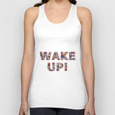 WAKE UP!  Unisex Tank Top