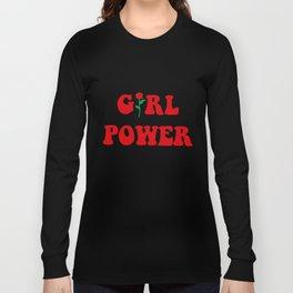 Girl Power Ringer Top Womens Tumblr Hipster Grunge Fashion Feminist Rose Hipster T-Shirts Long Sleeve T-shirt