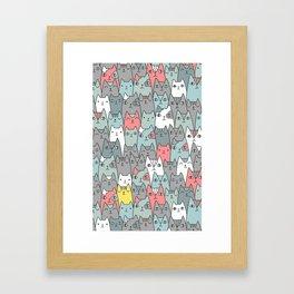 Cats family Framed Art Print