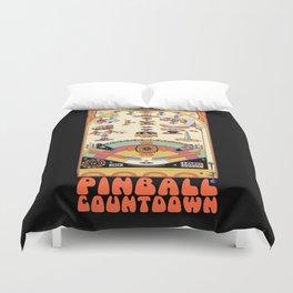 Pinball Countdown 1,2,3,4,5,6,7,8,9,10,11,12 Duvet Cover