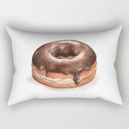 Chocolate Glazed Donut Rectangular Pillow
