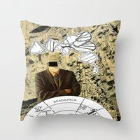 dead space Throw Pillows featuring Dead Space by Michael Harford