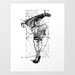 T. and Geometry Art Print