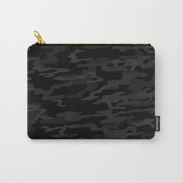 Black modern camouflage pattern. vector background illustration  Carry-All Pouch