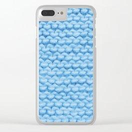 Βlue Warmth Clear iPhone Case