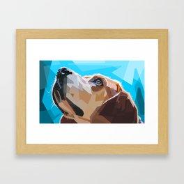 Beagle Dog Illustration Framed Art Print