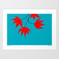 Japanese Maple Leaves Art Print