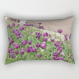 Purple tulips Rectangular Pillow