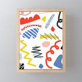 Memphis Zazzle Framed Mini Art Print